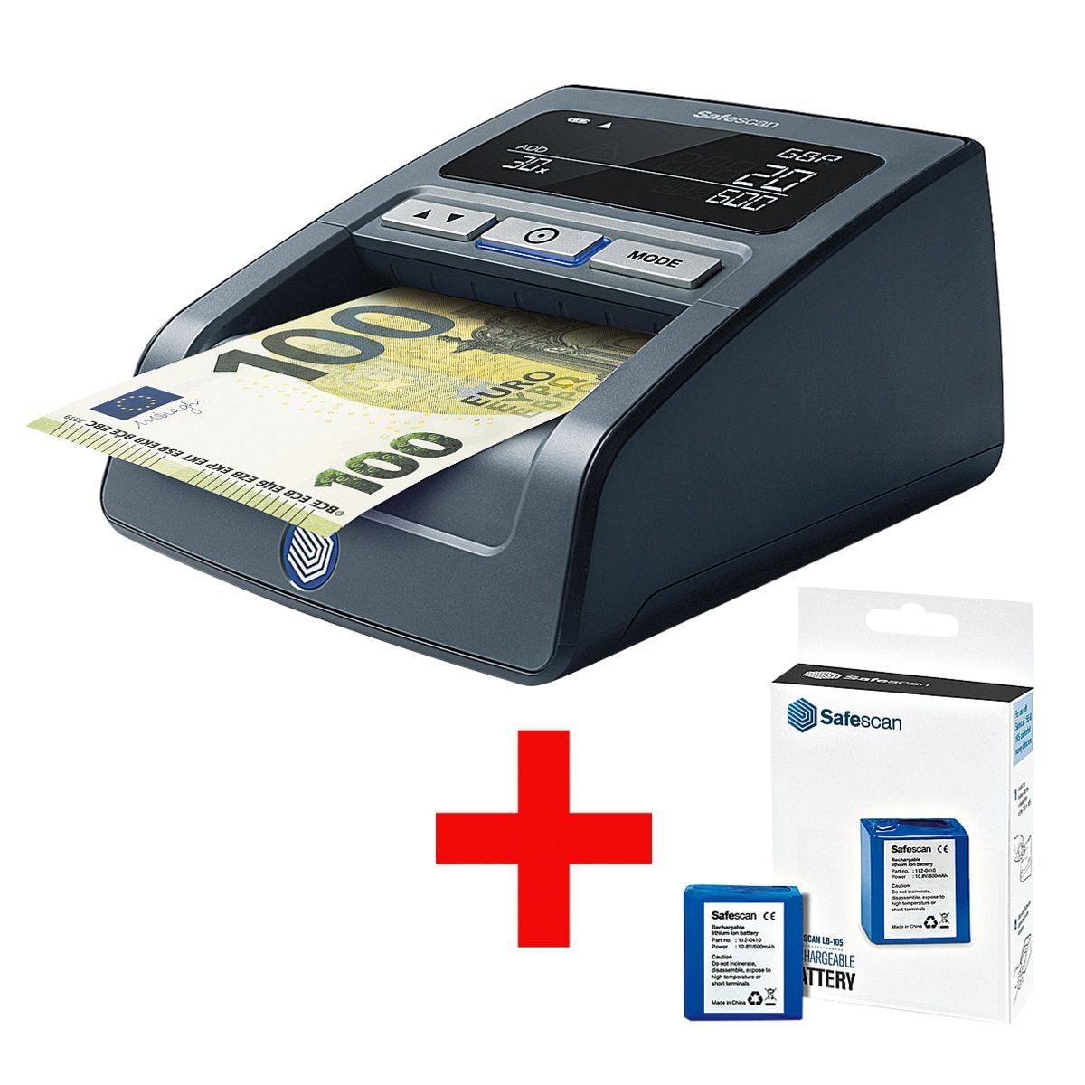 Safescan Geldscheinprüfgerät »155-s« inkl. passendem Akku »LB-105«