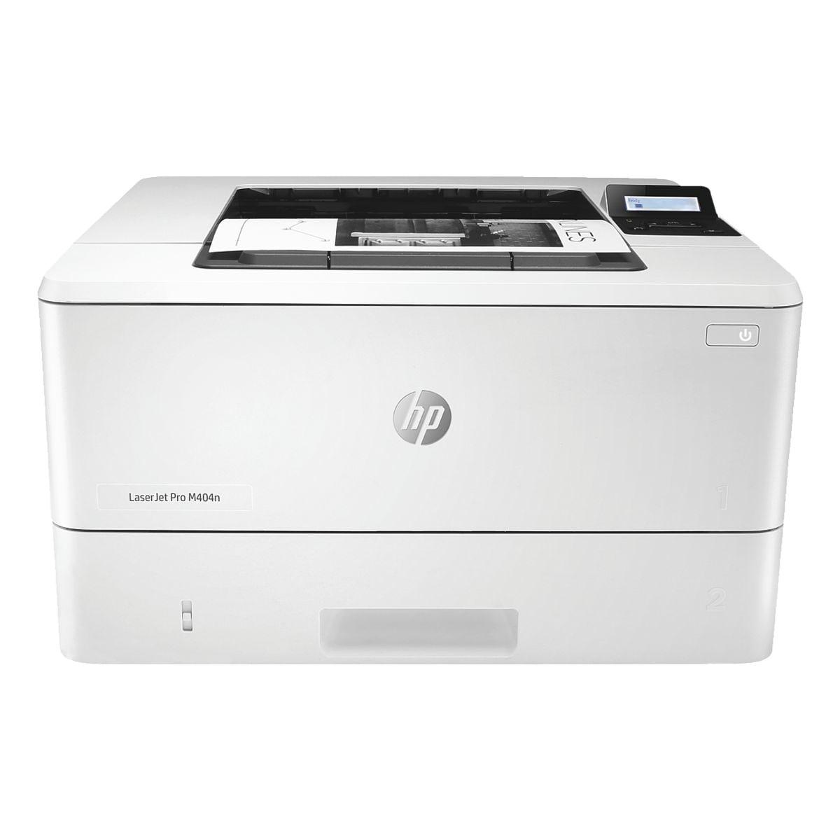 HP Laserdrucker HP LaserJet Pro M404n, A4 schwarz weiß Laserdrucker, 4800 x 600 dpi, mit LAN
