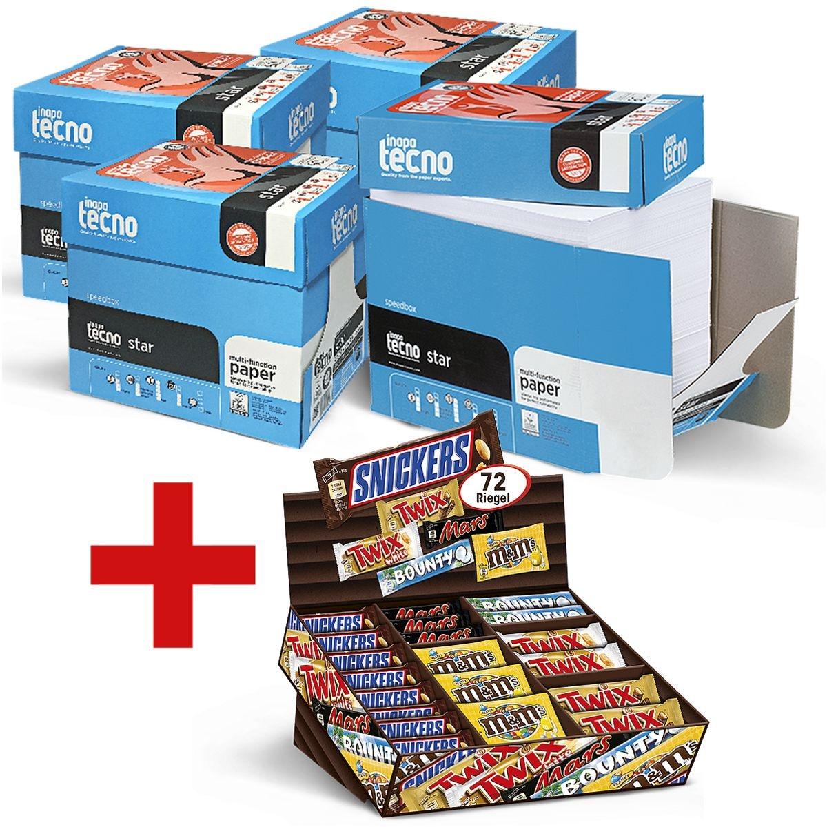4x Öko-Box Kopierpapier A4 Inapa tecno Star - 10000 Blatt gesamt inkl. Mars Topseller-Box 72-teilig
