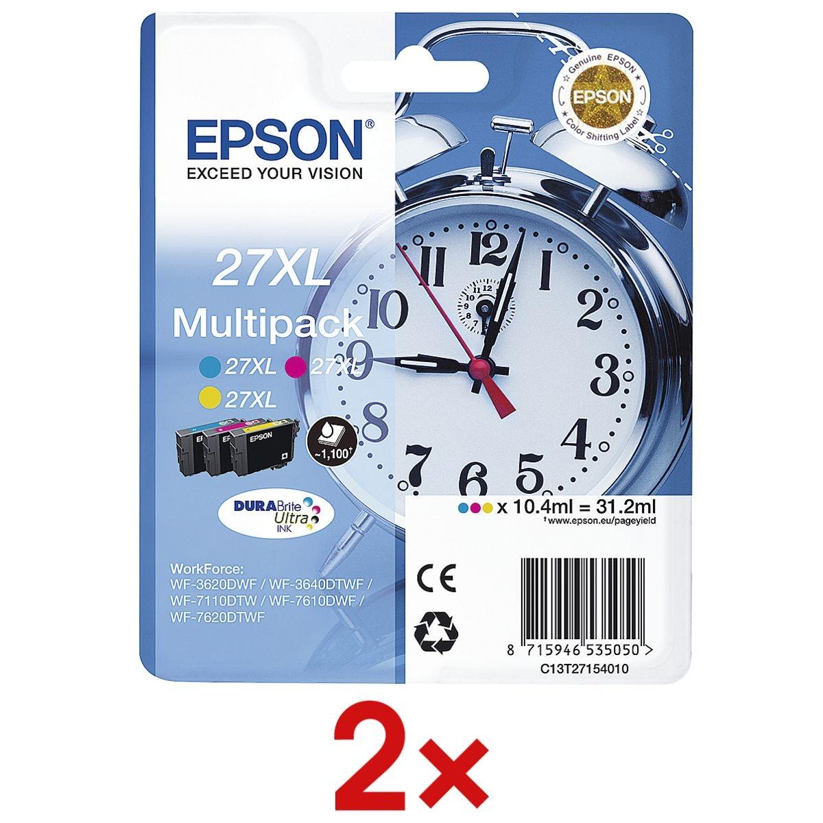 Epson 2x Tintenpatronen-Set »T2715« Nr. 27XL