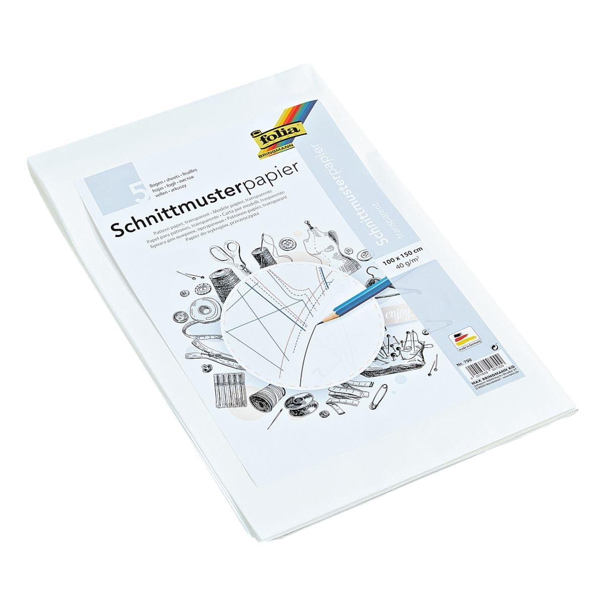 folia Schnittmusterpapier (5 Bögen)