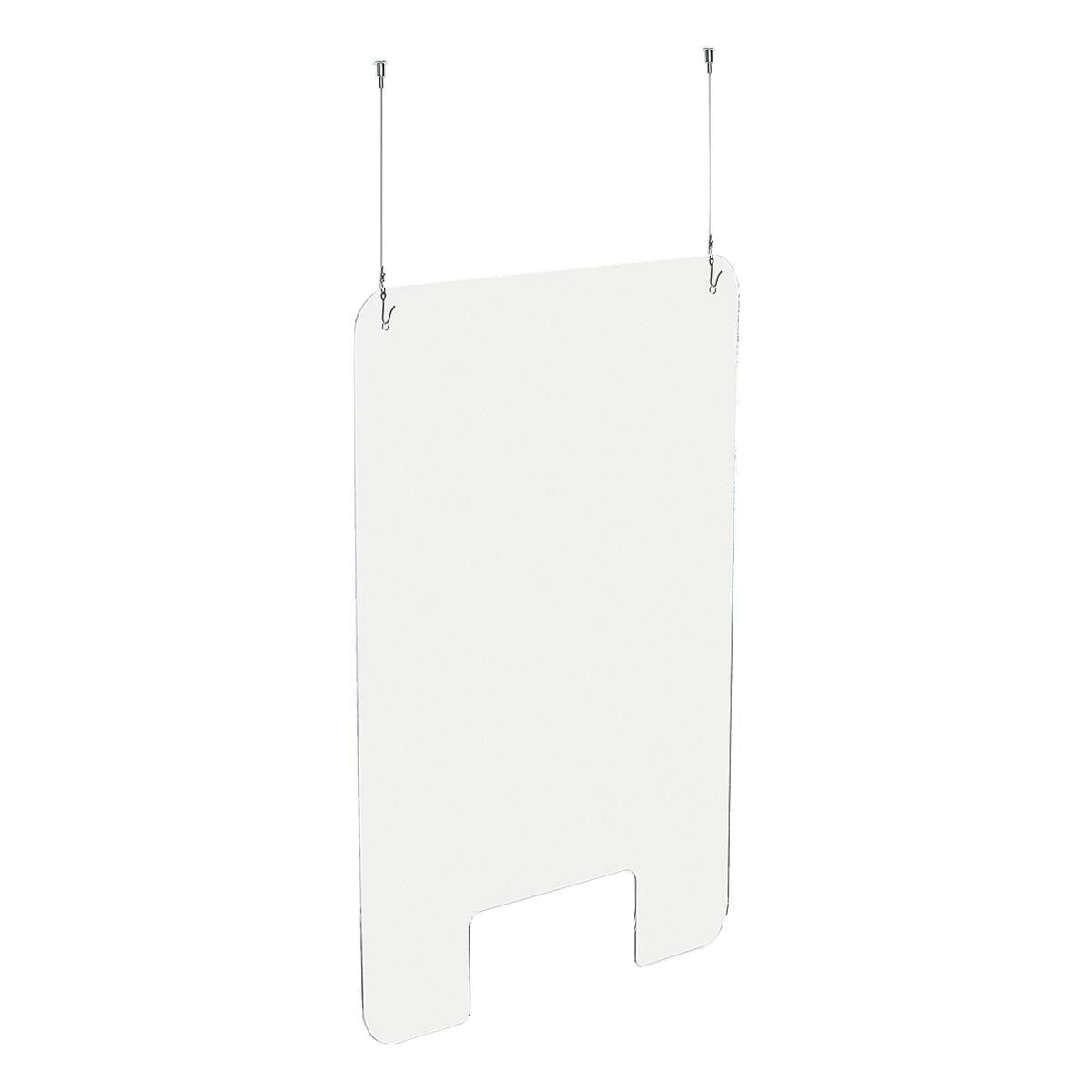 EXACOMPTA Nies- und Spuckschutz / Trennwand »Exascreen« zum Aufhängen 66 x 99 cm mit Befestigungsset