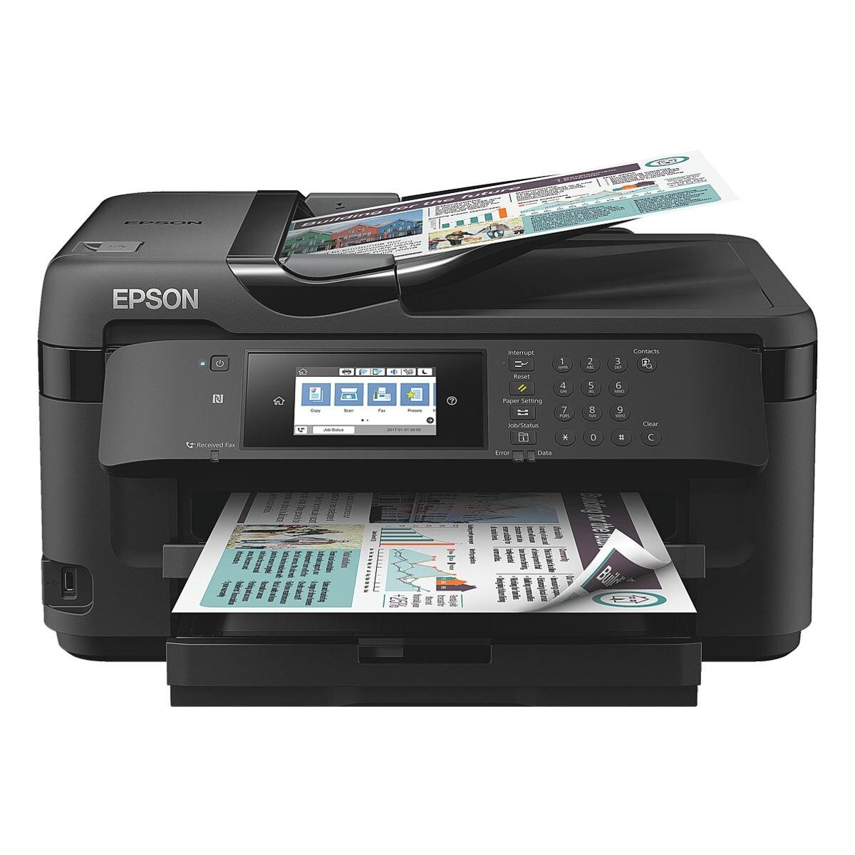 Epson WorkForce WF-7710DWF Multifunktionsdrucker, A3+ Farb-Tintenstrahldrucker, mit WLAN und NFC und LAN
