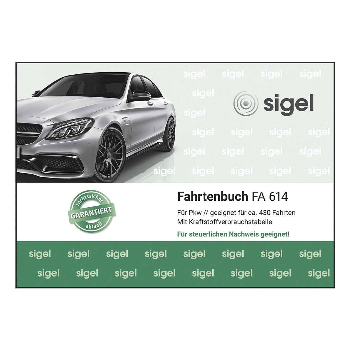 Sigel Fahrtenbuch »FA614« (A6 quer)