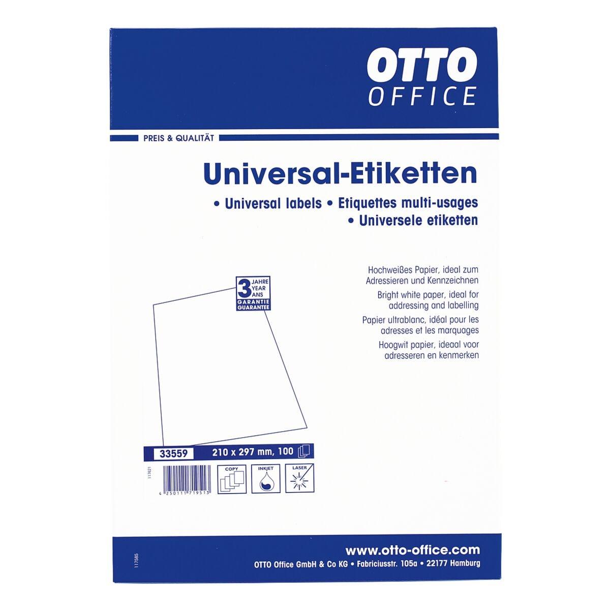 OTTO Office 100er-Pack Universal Klebeetiketten