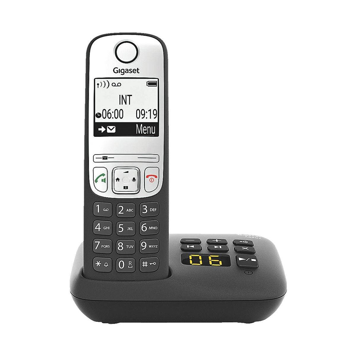 Gigaset Schnurloses Telefon mit Anrufbeantworter »A690A« schwarz
