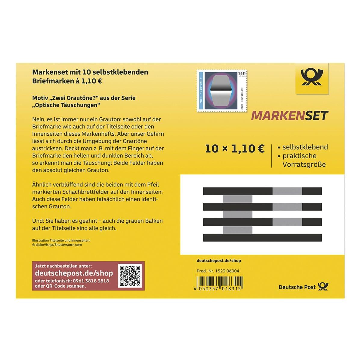 Deutsche Post Markenset Zwei Grautöne?, 10x Briefmarke zu 1,10 € selbstklebend