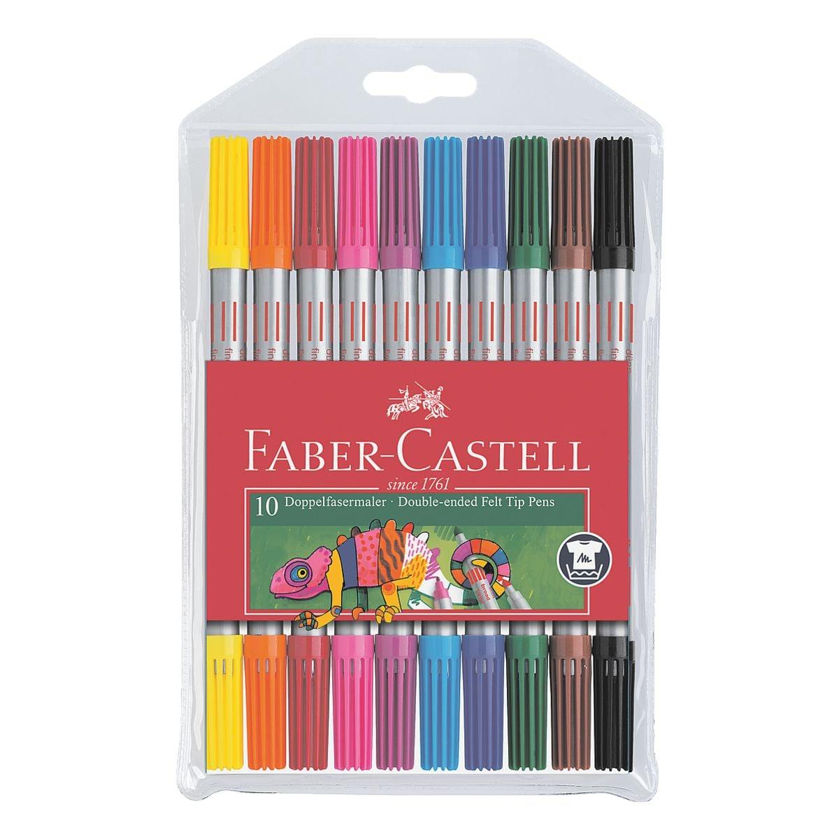 Faber-Castell (Schule) 10er-Pack Doppelfasermaler