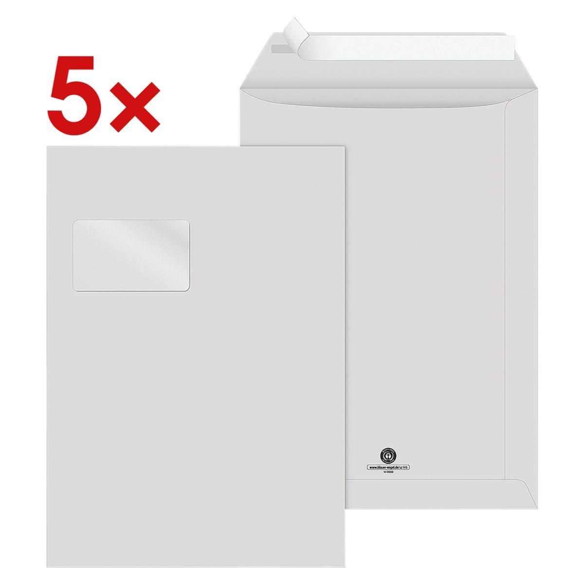 Recycling Briefumschläge Steinmetz NACHHALTIG, C4 100 g/m² mit Fenster - 75 Stück