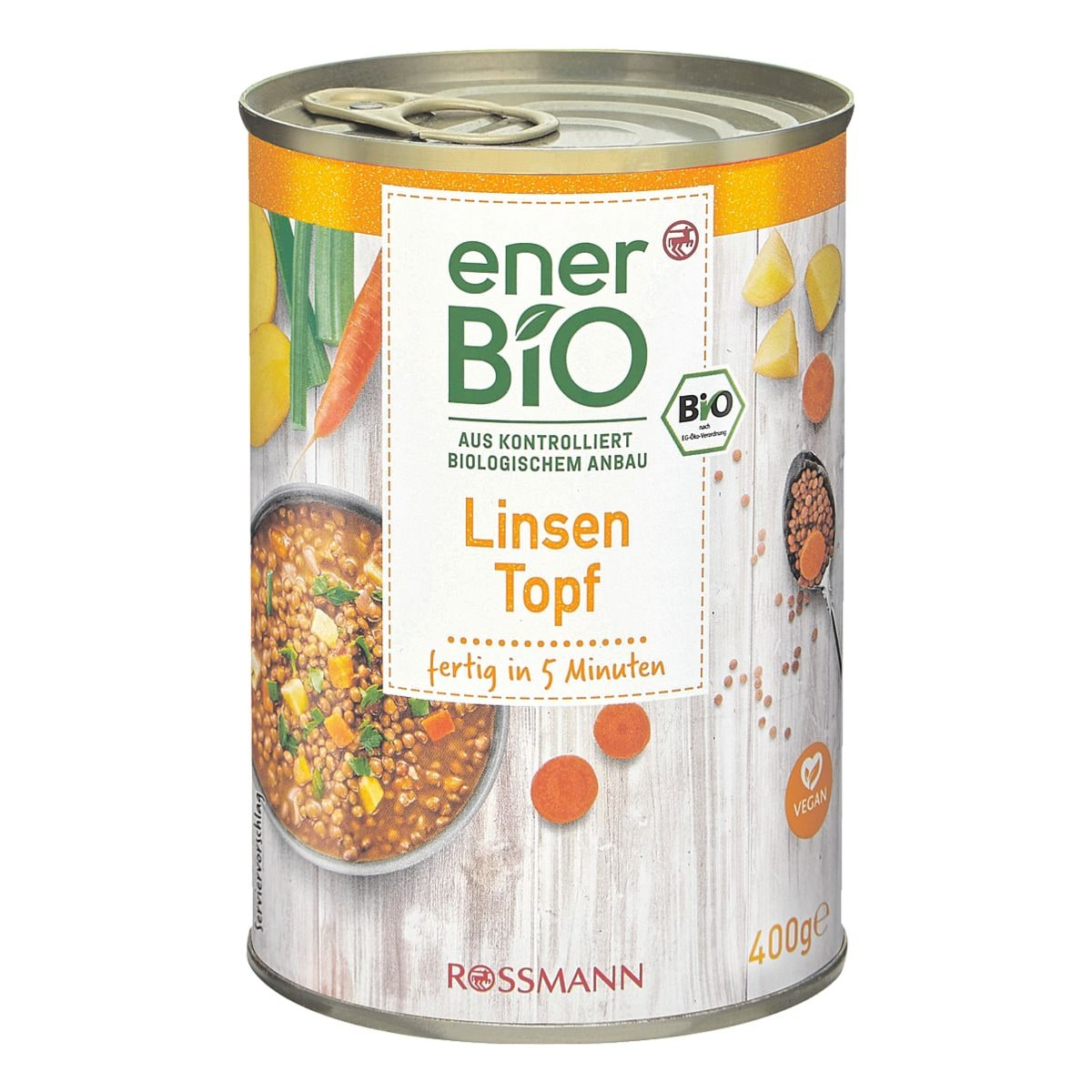 enerBIO Fertiggericht »Linsentopf« vegan