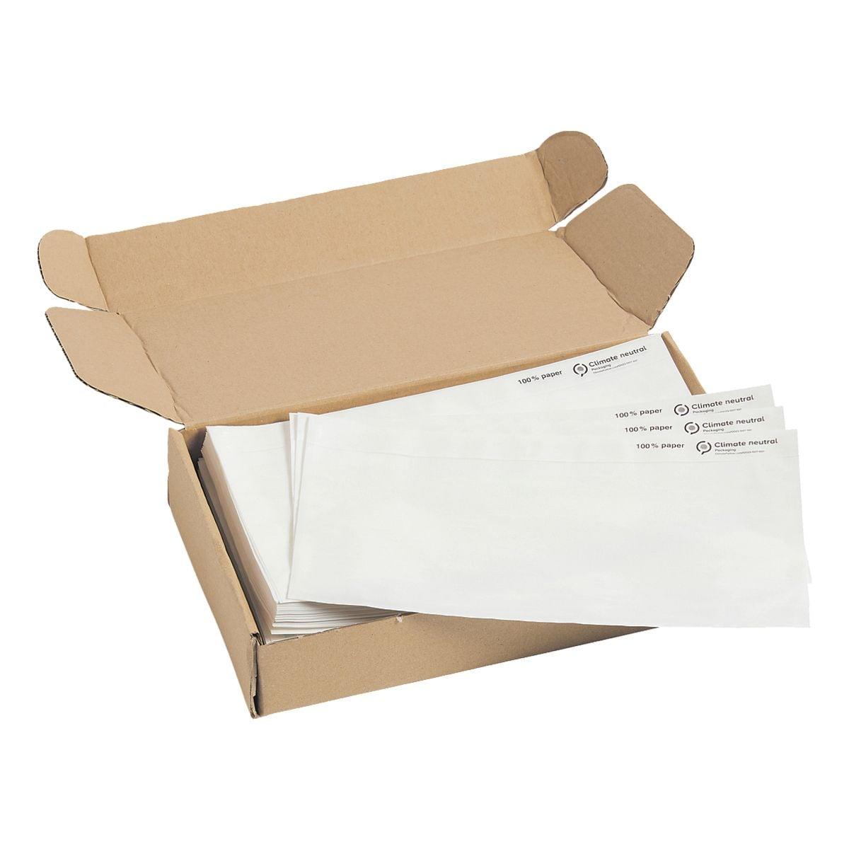Mailmedia 250er-Pack Dokumenten- und Lieferscheintaschen, DIN Lang