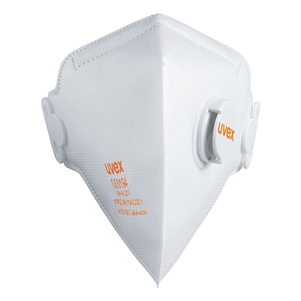 UVEX 15er-Pack FFP2 Einweg-Maske »silv-Air classic 3210« mit Ventil