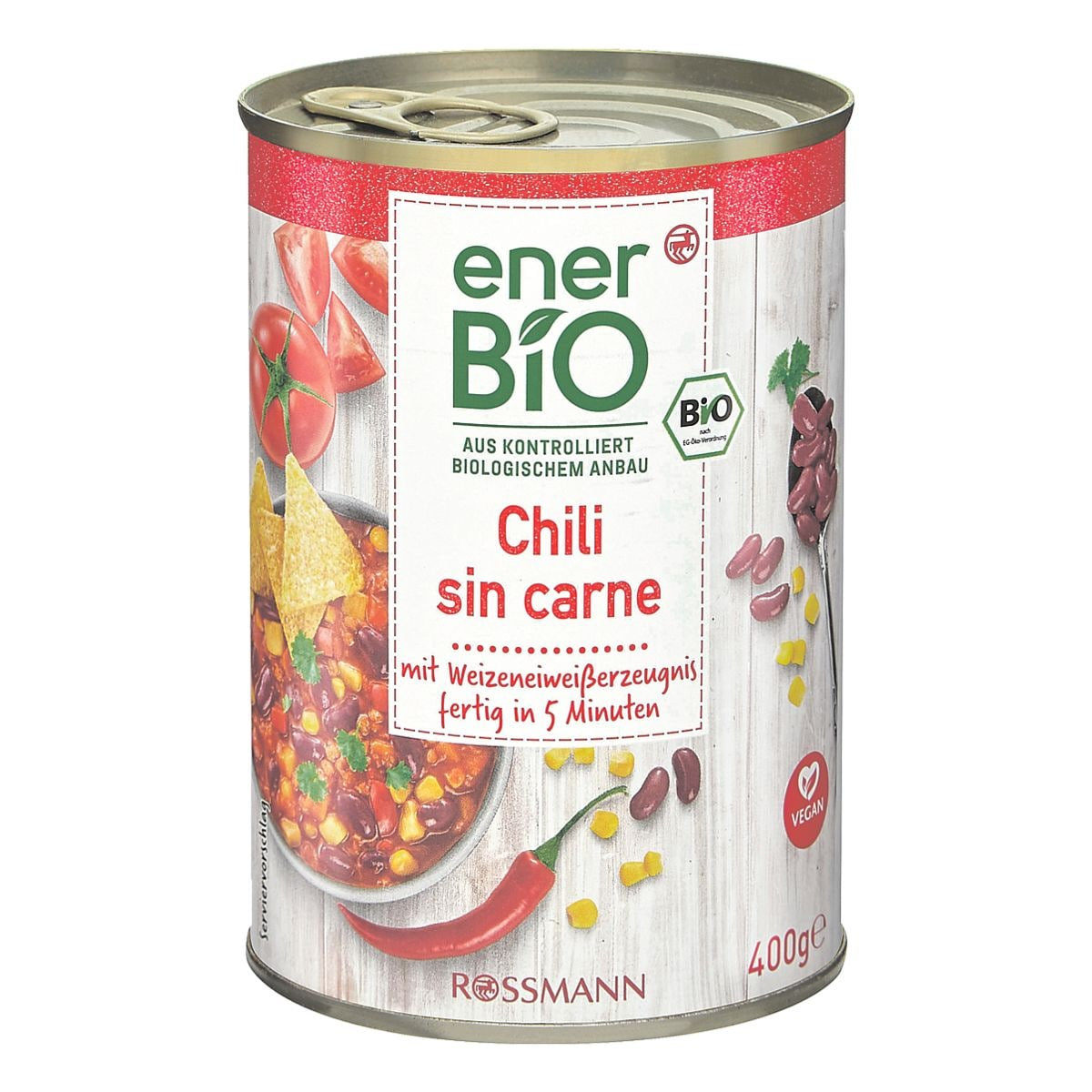 enerBIO Fertiggericht »Bio Chili sin carne« vegan