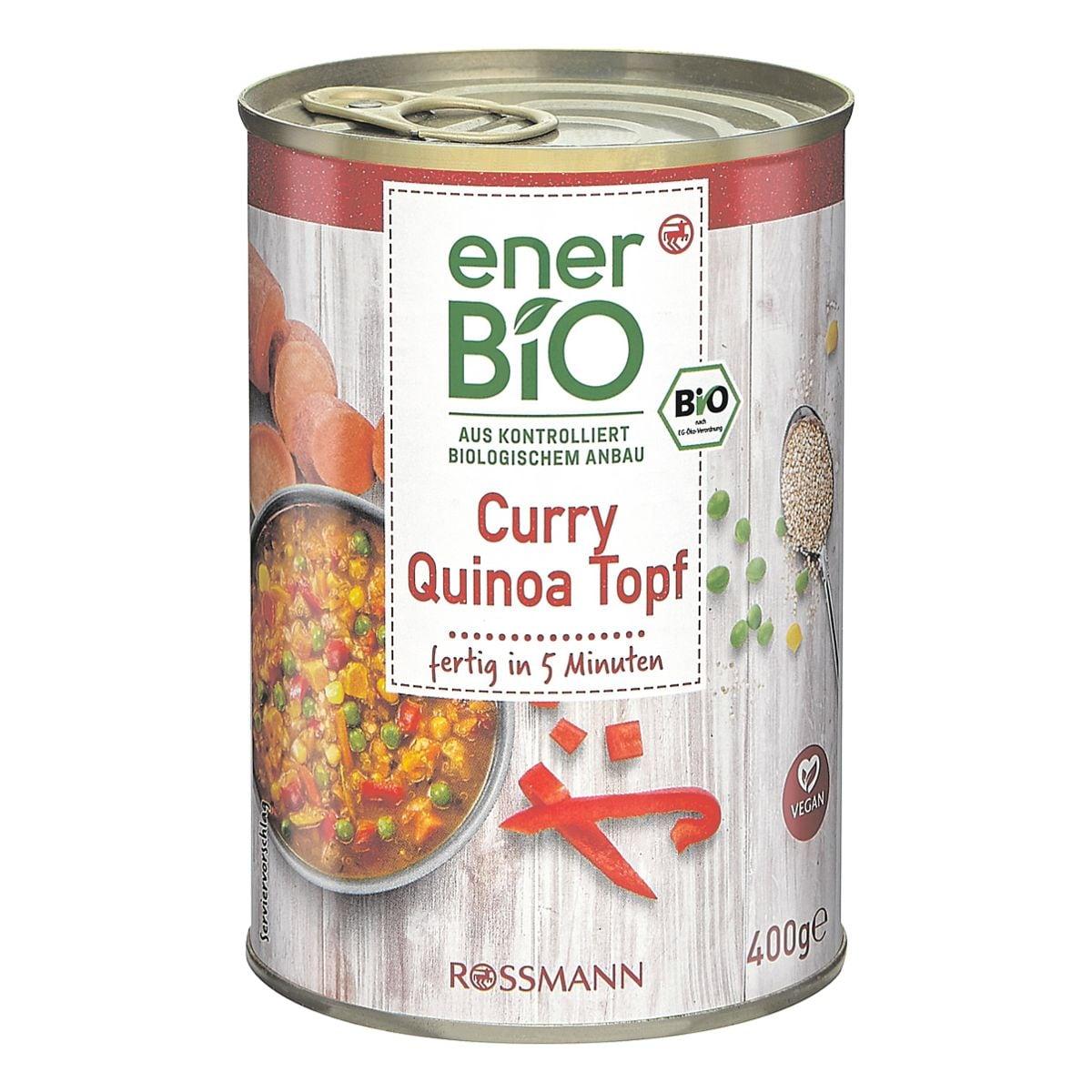 enerBIO Fertiggericht »Bio Curry Quinoa Topf« vegan