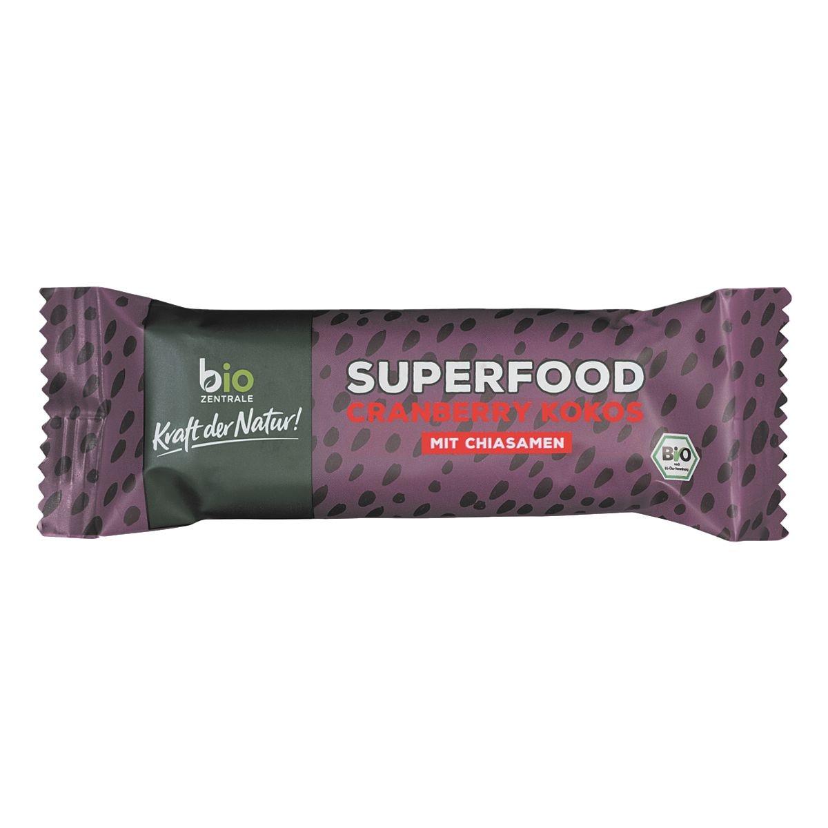 bio ZENTRALE BIO Müsliriegel »Superfood Cranberry Kokos«