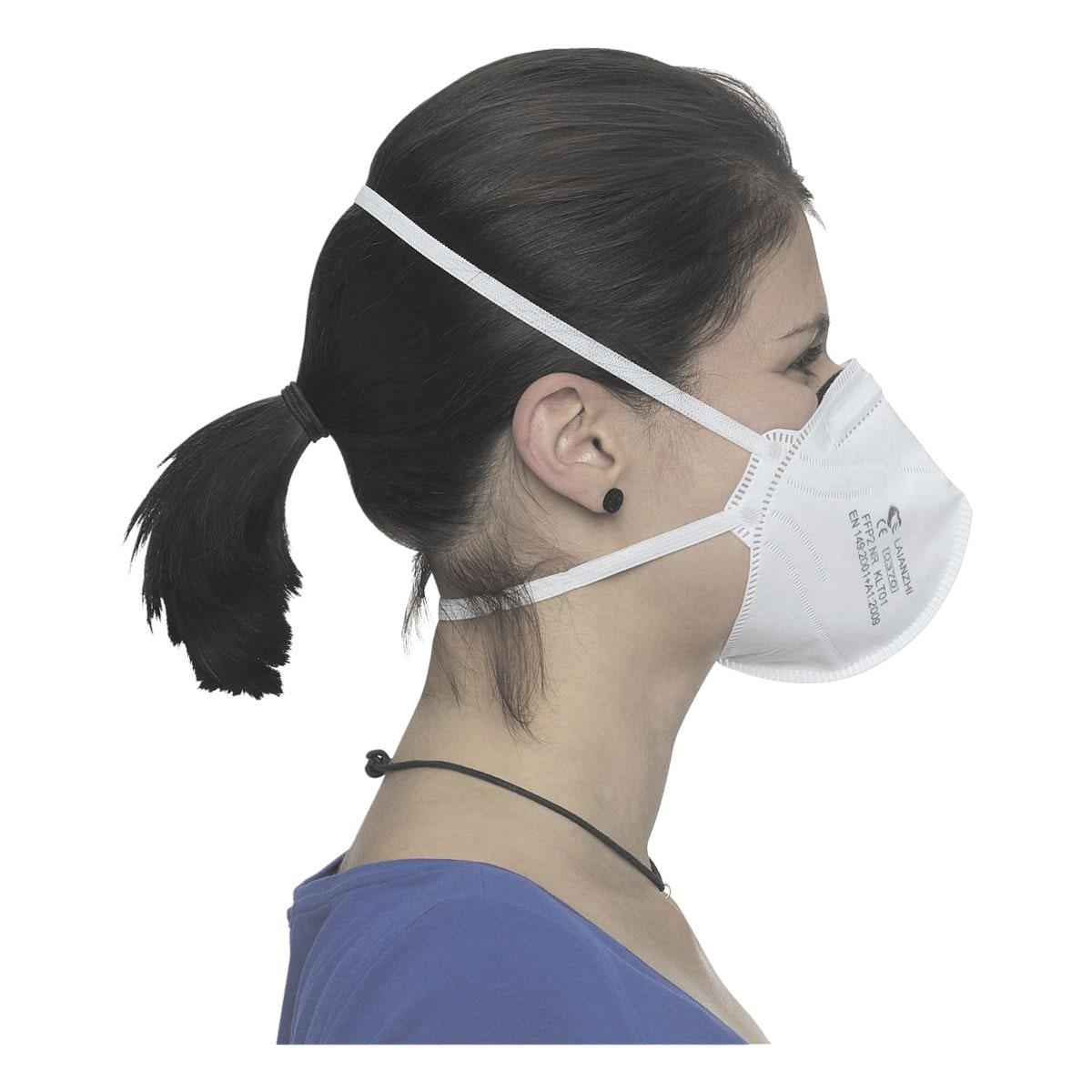 BBE Solutions 80er-Pack FFP2 Maske Einweg gefaltet »F-Serie KLT01« ohne Ventil
