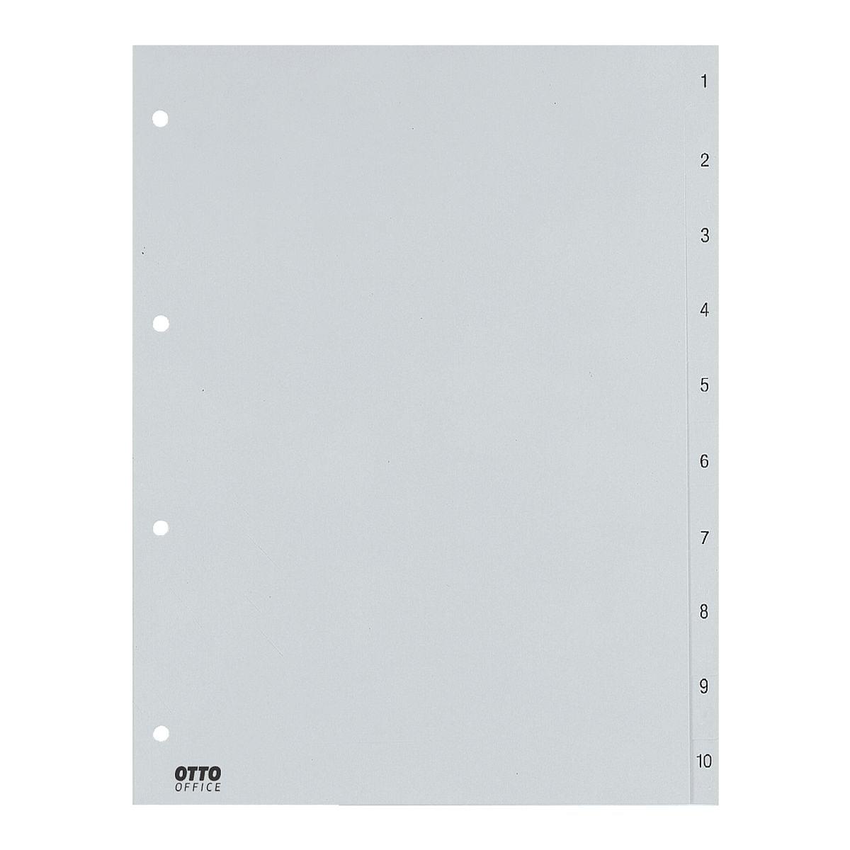 OTTO Office Register, A4, 1-10 10-teilig, grau, Kunststoff