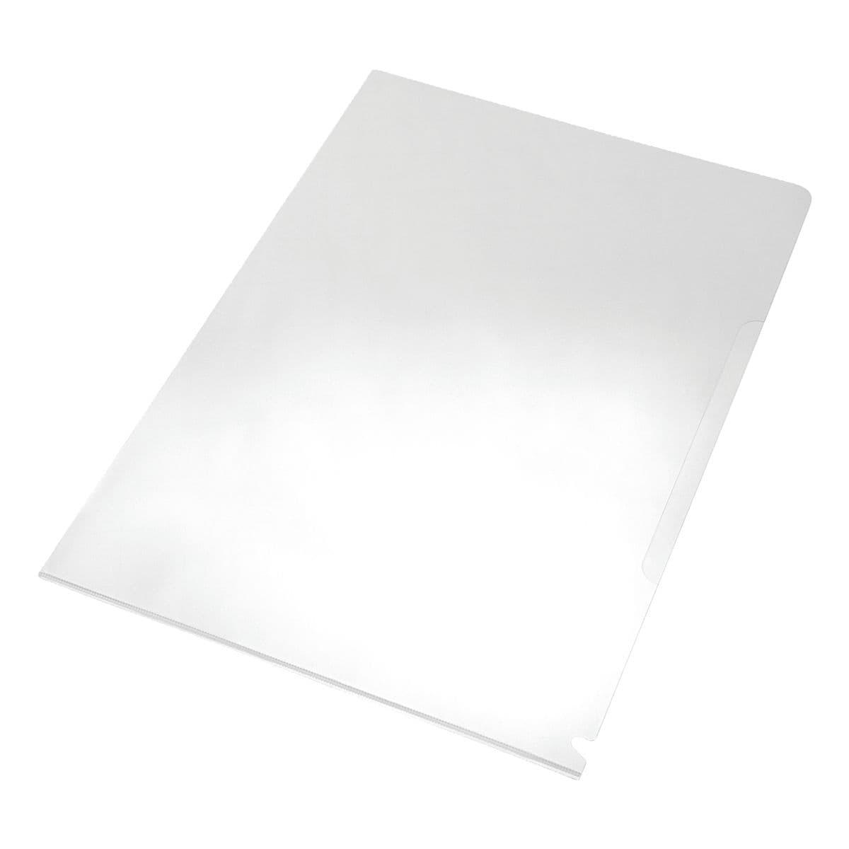 EICHNER Sammelhülle A4 glatt/glasklar, oben und seitlich offen 0,12 mm - 100 Stück