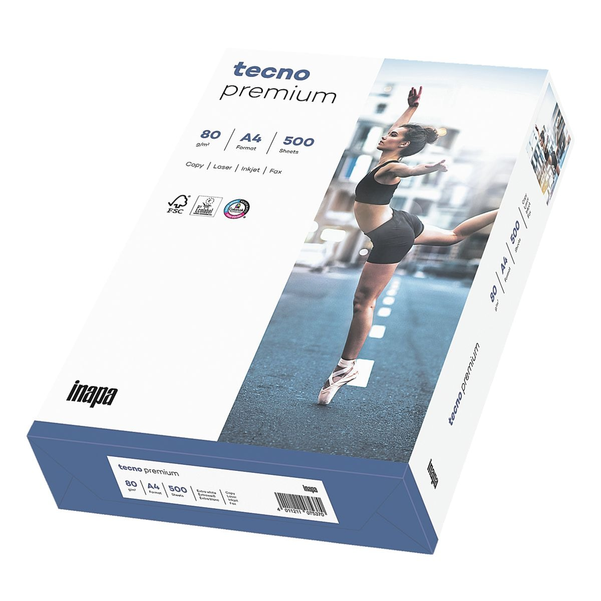 Multifunktionales Druckerpapier A4 Inapa tecno Premium - 500 Blatt gesamt