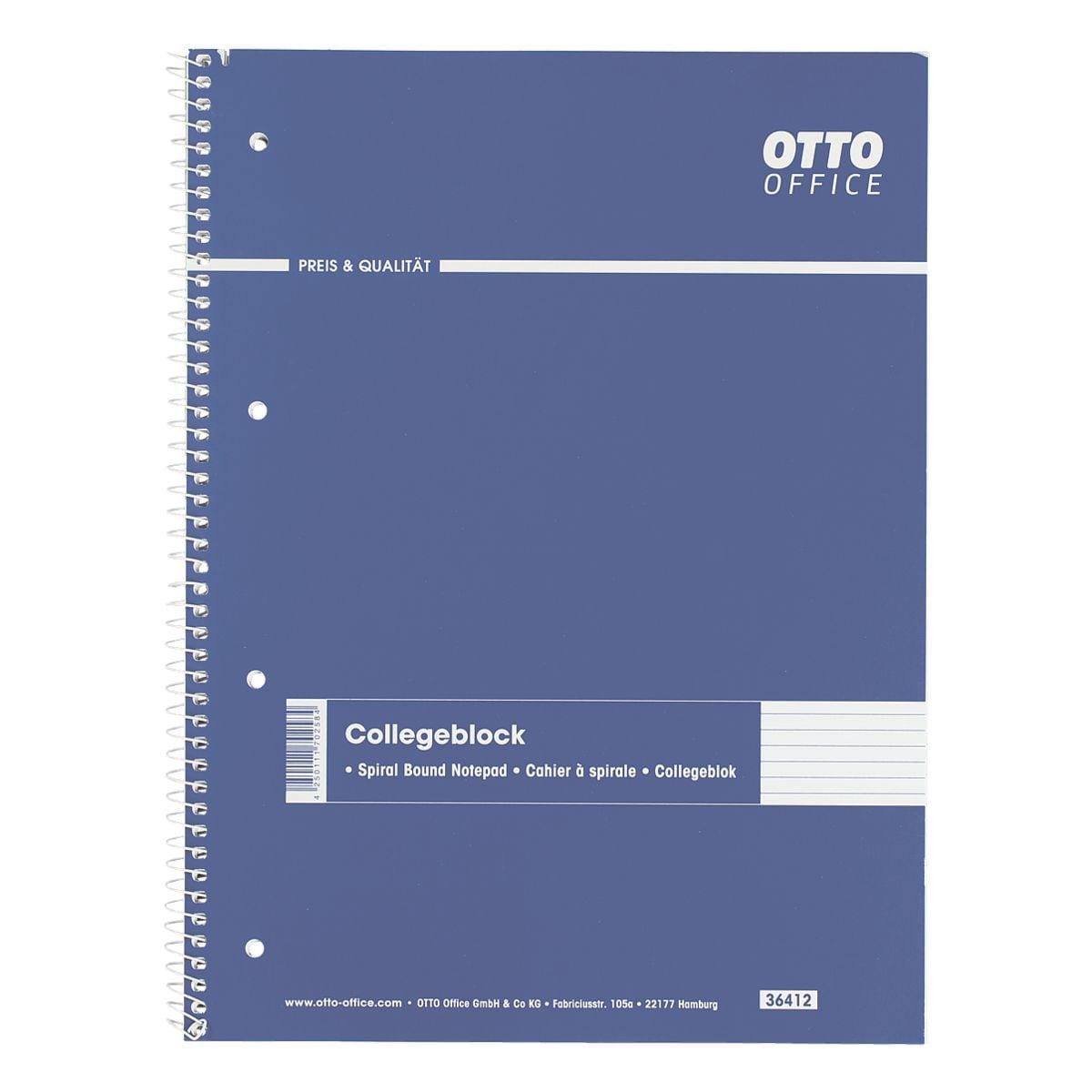OTTO Office Collegeblock A4 liniert, 80 Blatt