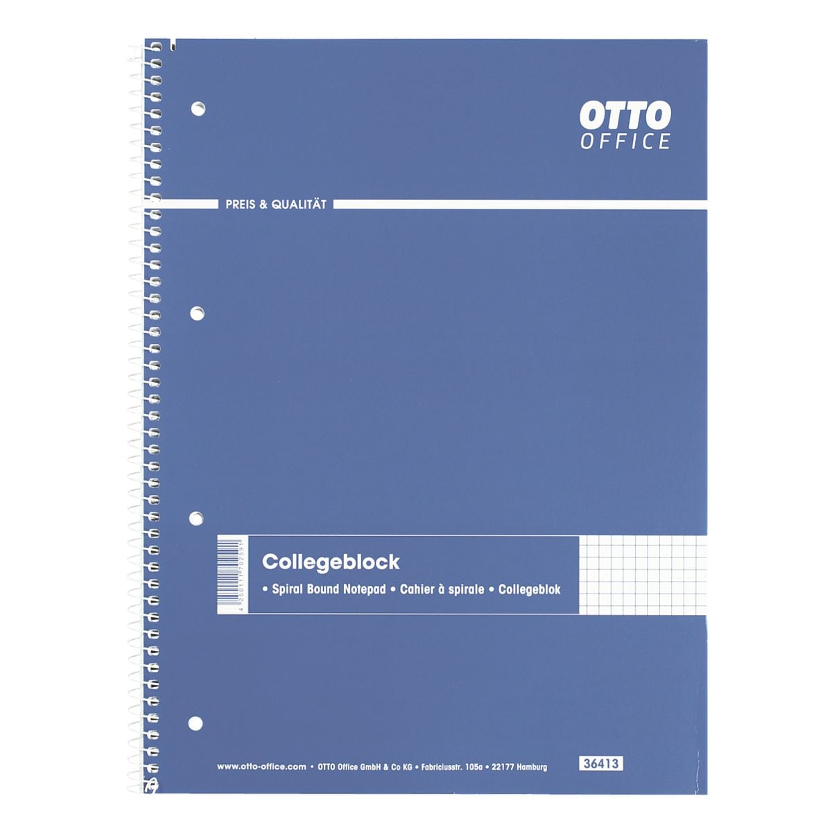 OTTO Office Collegeblock A4 kariert, 80 Blatt