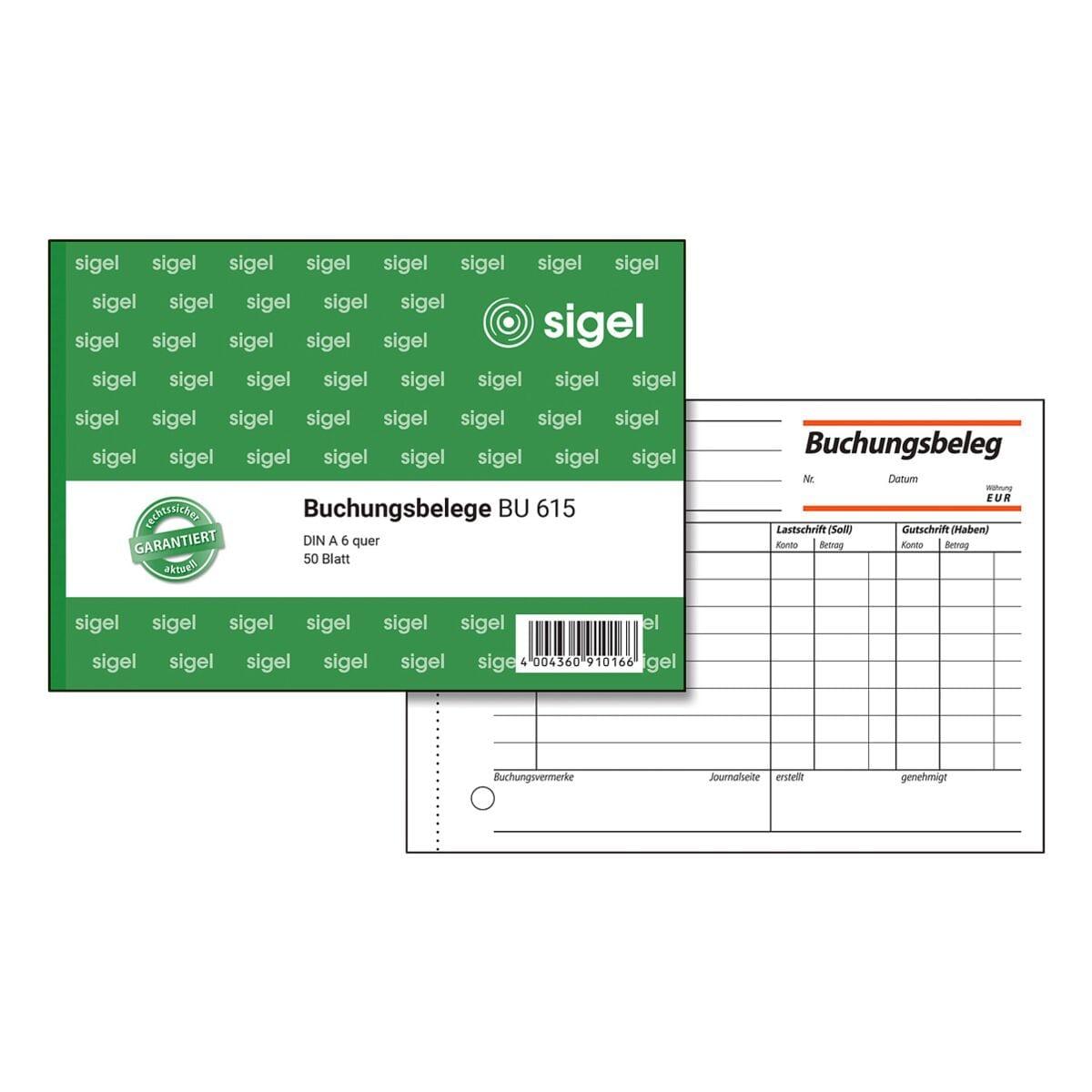 Sigel Formularbuch »Buchungsbeleg« BU615