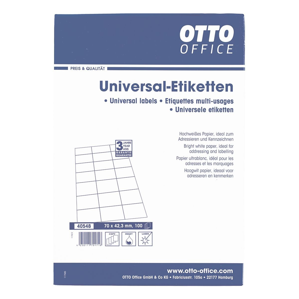 OTTO Office 2100er-Pack Universal Klebeetiketten - Bei OTTO Office ...