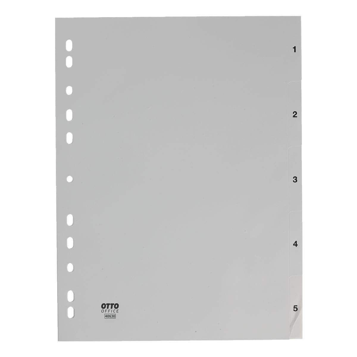 OTTO Office Register, A4, 1-5 5-teilig, grau, Kunststoff