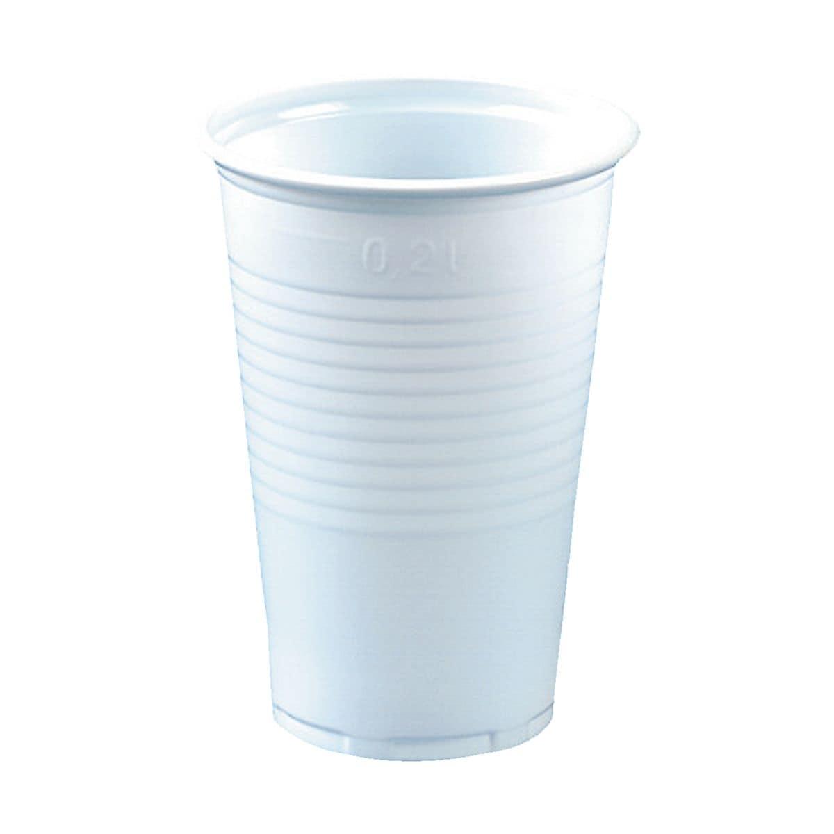 Papstar Einweg-Trinkbecher 0,2L weiß