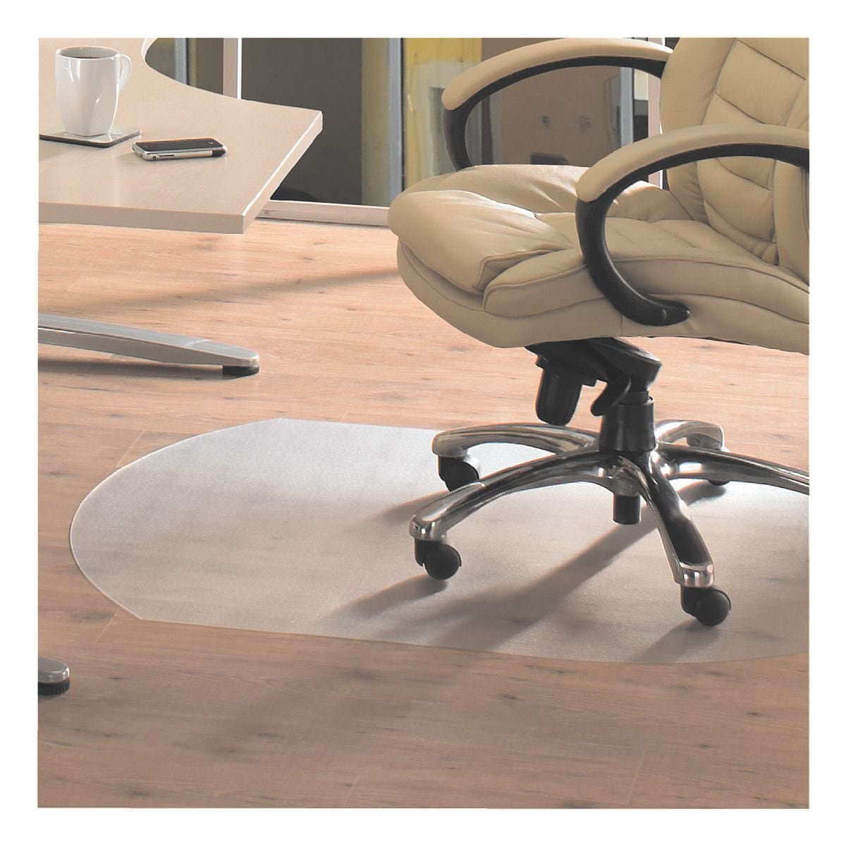 bodenschutzmatte f r hartb den vinyl sonderform t 99 x 125 cm floortex bei otto office. Black Bedroom Furniture Sets. Home Design Ideas