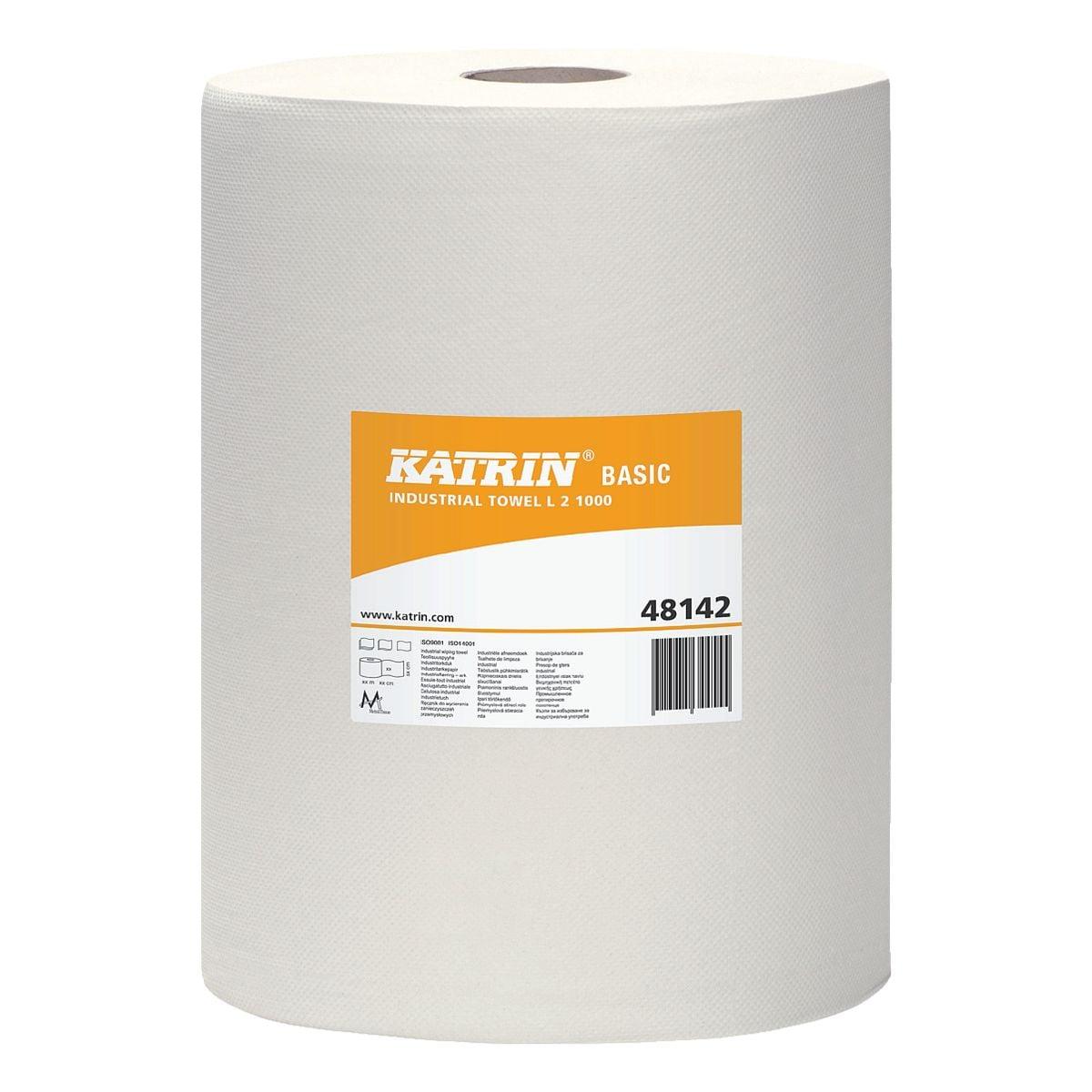 Katrin Papier-Putztuchrolle weiß 2-lagig 22x38 cm (2x1000 Blatt)