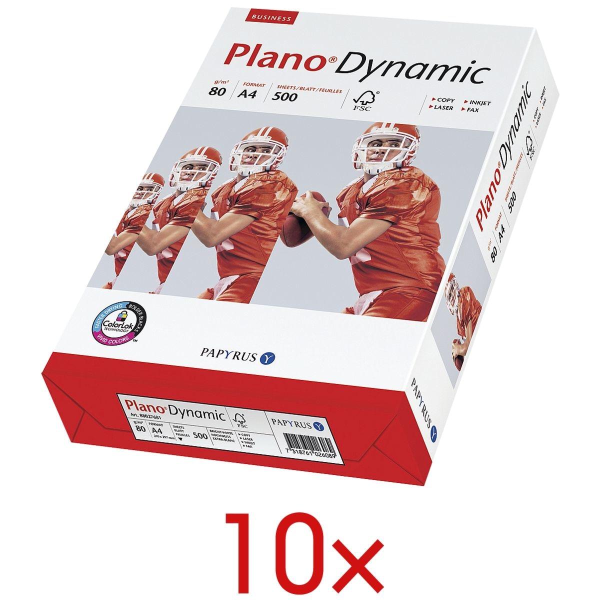 10x Multifunktionales Druckerpapier A4 Plano Dynamic - 5000 Blatt gesamt