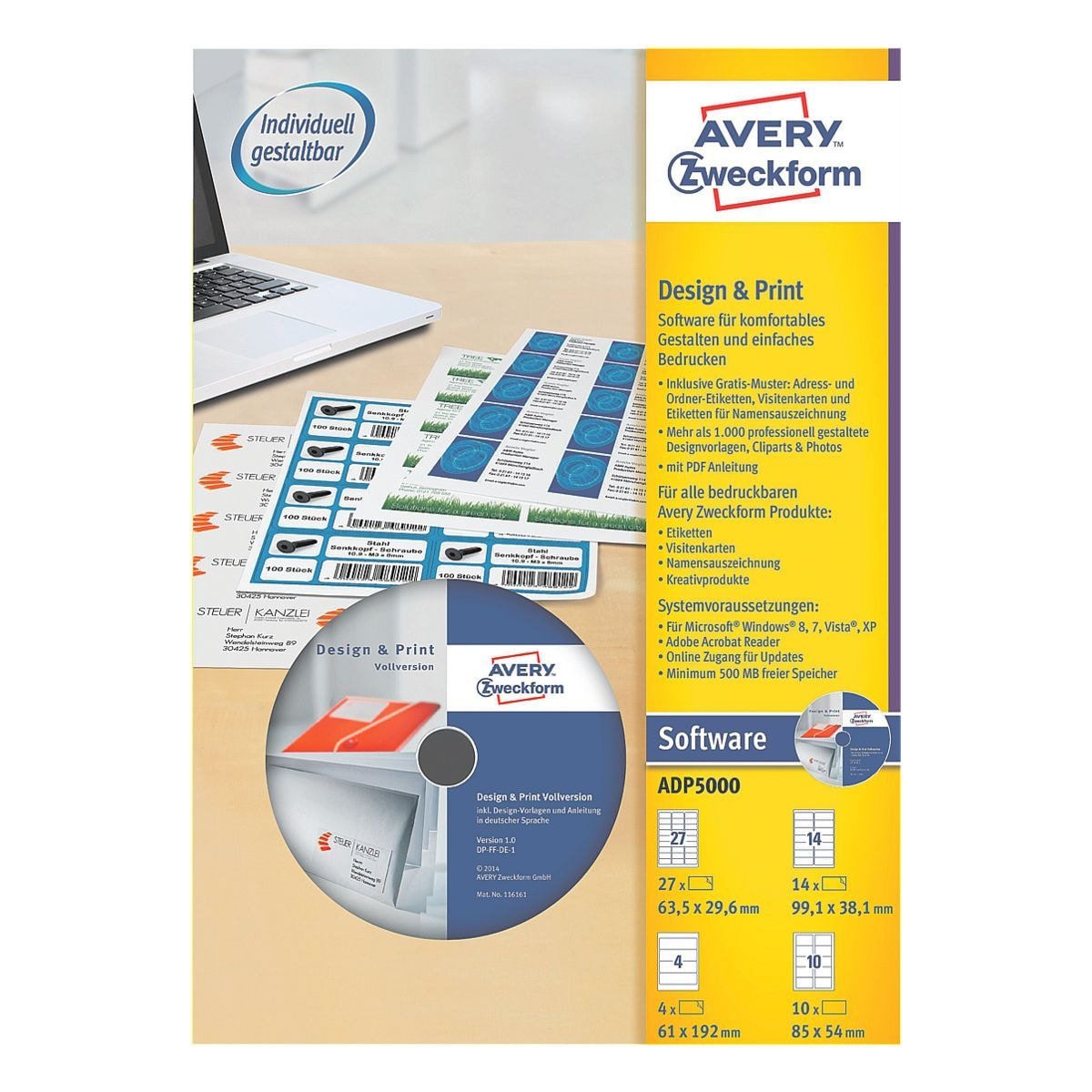 Avery zweckform software design print bei otto for Design and print avery