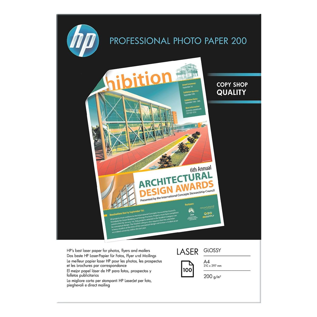HP Foto-Laserpapier »HP Professional Photo Paper 200 Laser glossy«