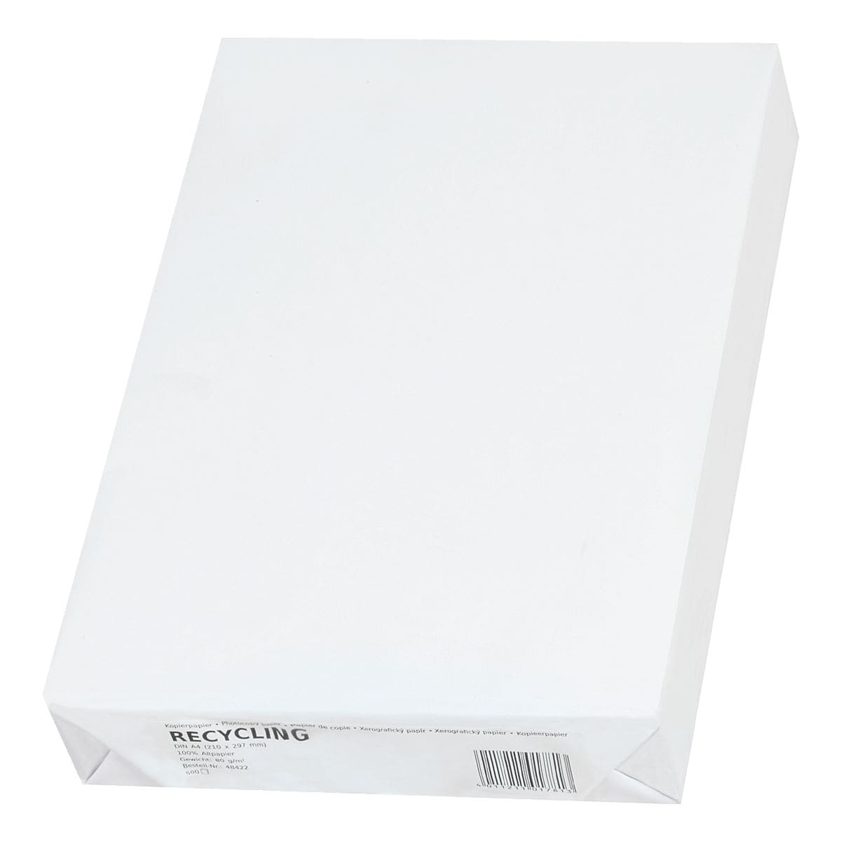 Recyclingpapier A4 Recycling - 500 Blatt gesamt, 80 g/m²