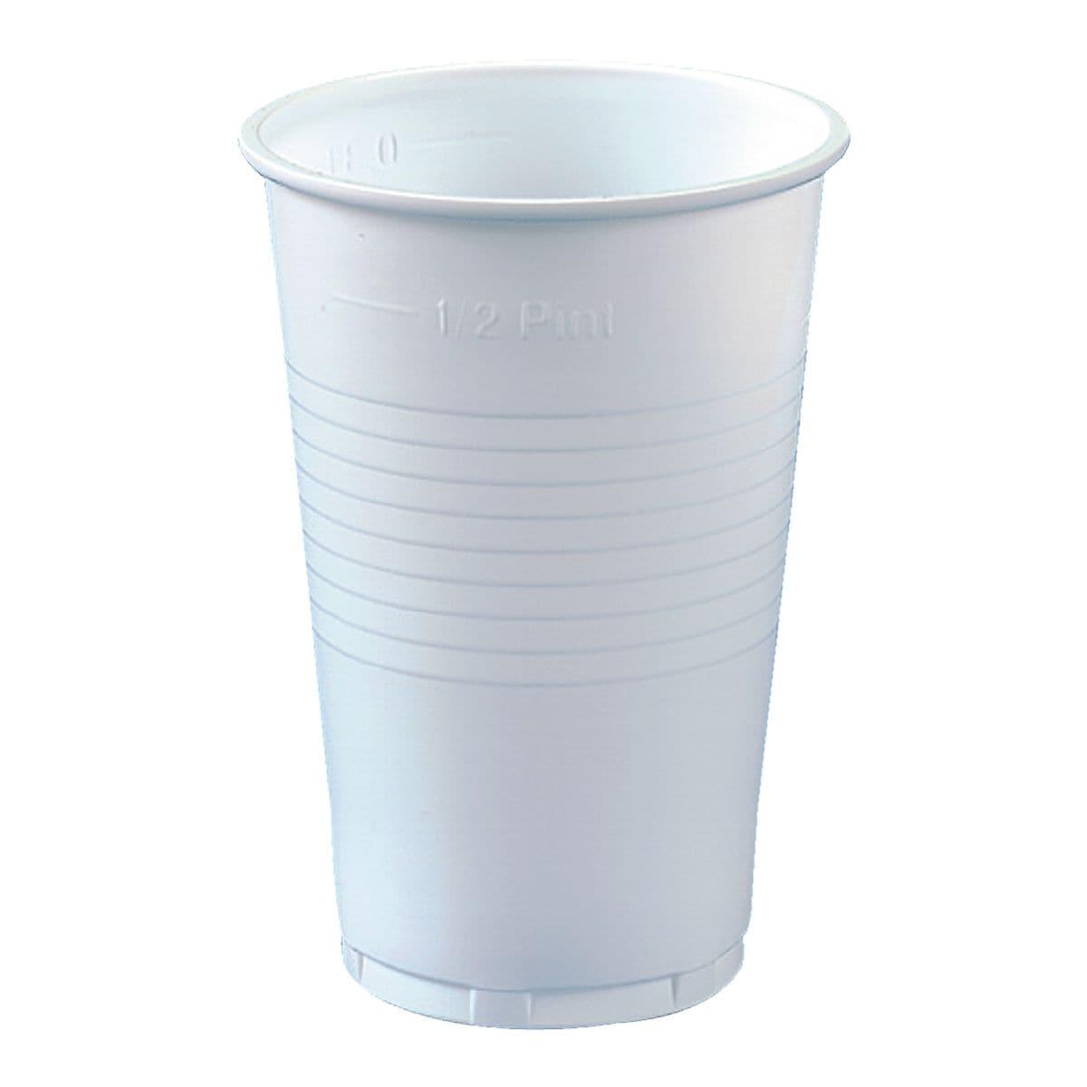 Papstar Einweg-Trinkbecher 0,3L weiß