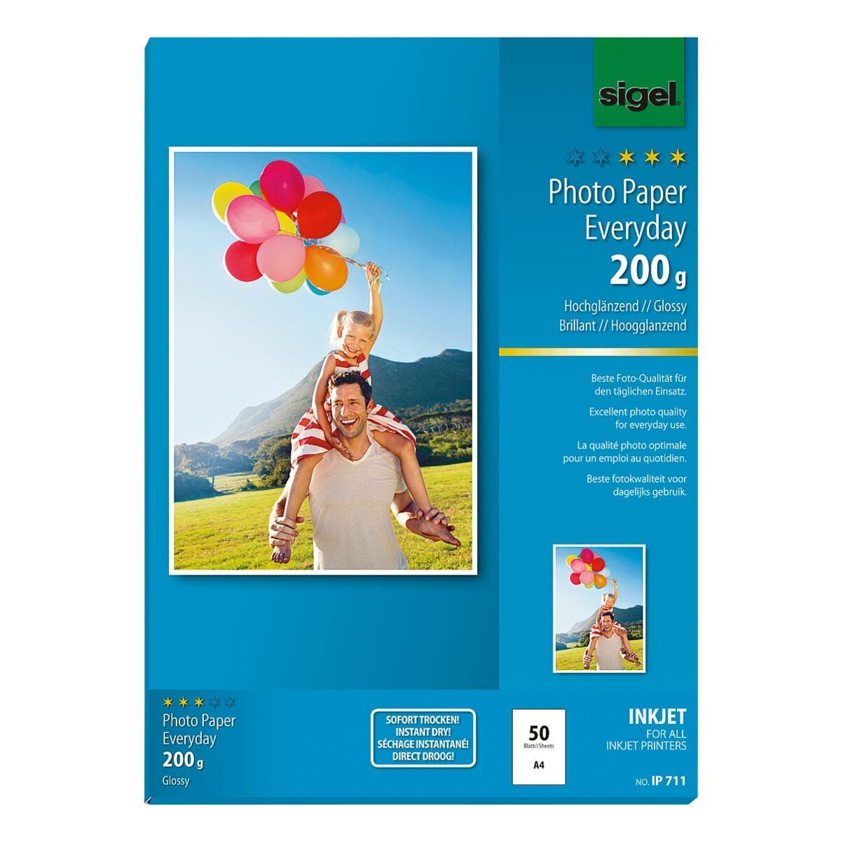 Sigel Foto Inkjet-Papier »Everyday Plus« IP711 A4 200 g/m² 50 Blatt
