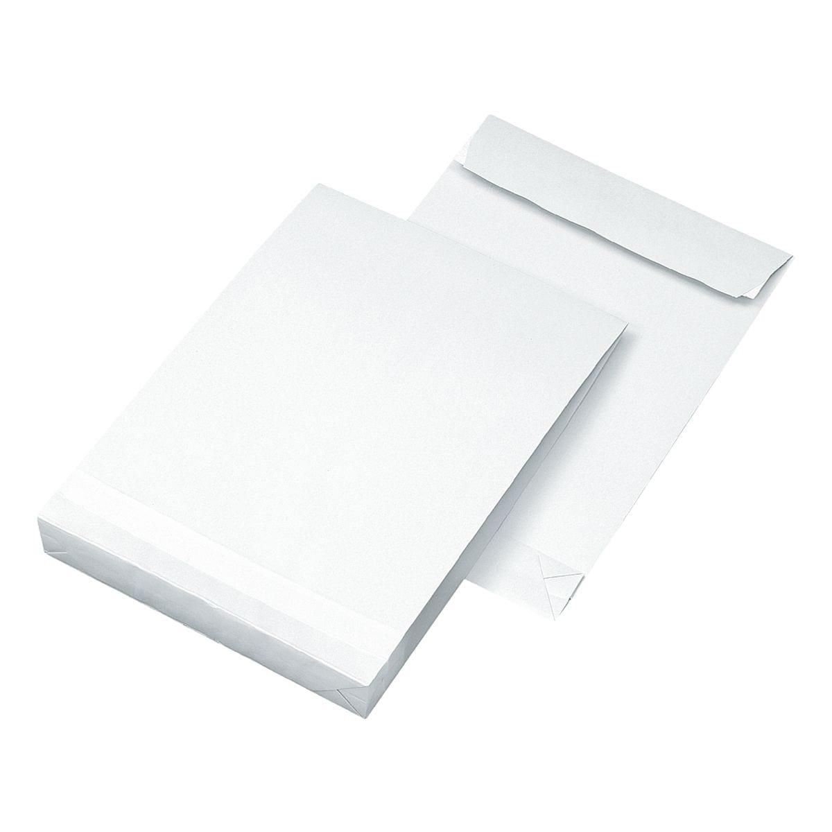 Mailmedia 25 Faltentaschen mit Steh-/Klotzboden, C4 120 g/m² ohne Fenster