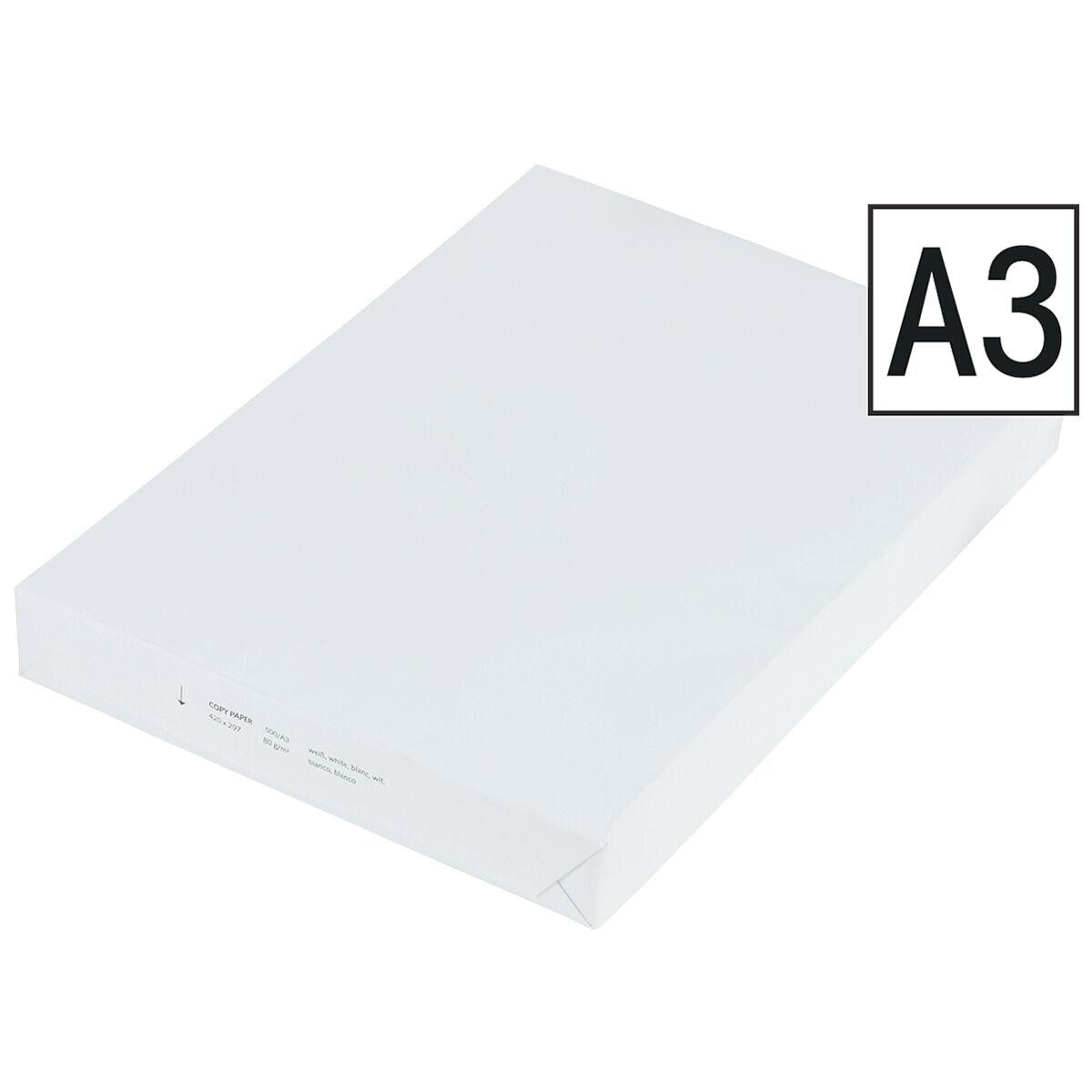Kopierpapier A3 - 500 Blatt gesamt, 80 g/m²
