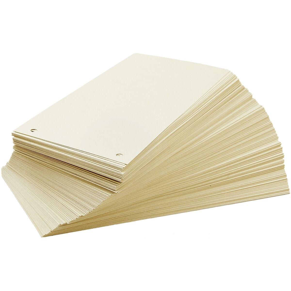 Trennstreifen OTTO Office Nature, Recycling-Karton Rechteck 24/10,5 cm, 200 Stück