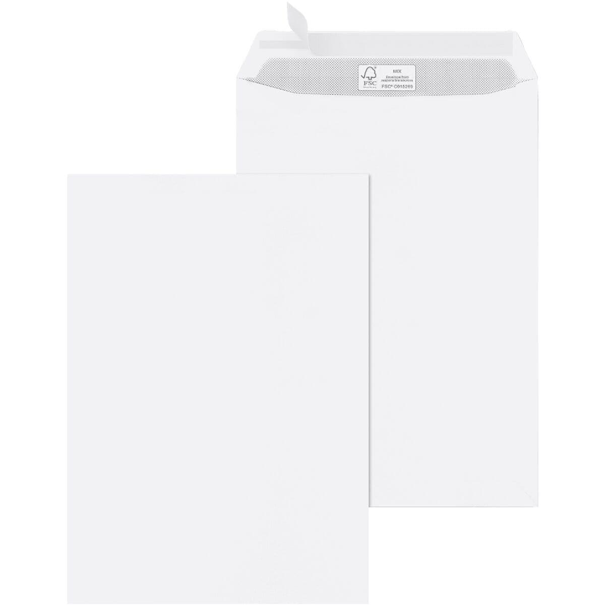Briefumschläge Mailmedia, C4 100 g/m² ohne Fenster - 100 Stück
