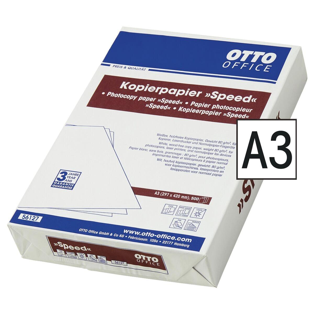 Kopierpapier A3 OTTO Office SPEED - 500 Blatt gesamt, 80g/qm