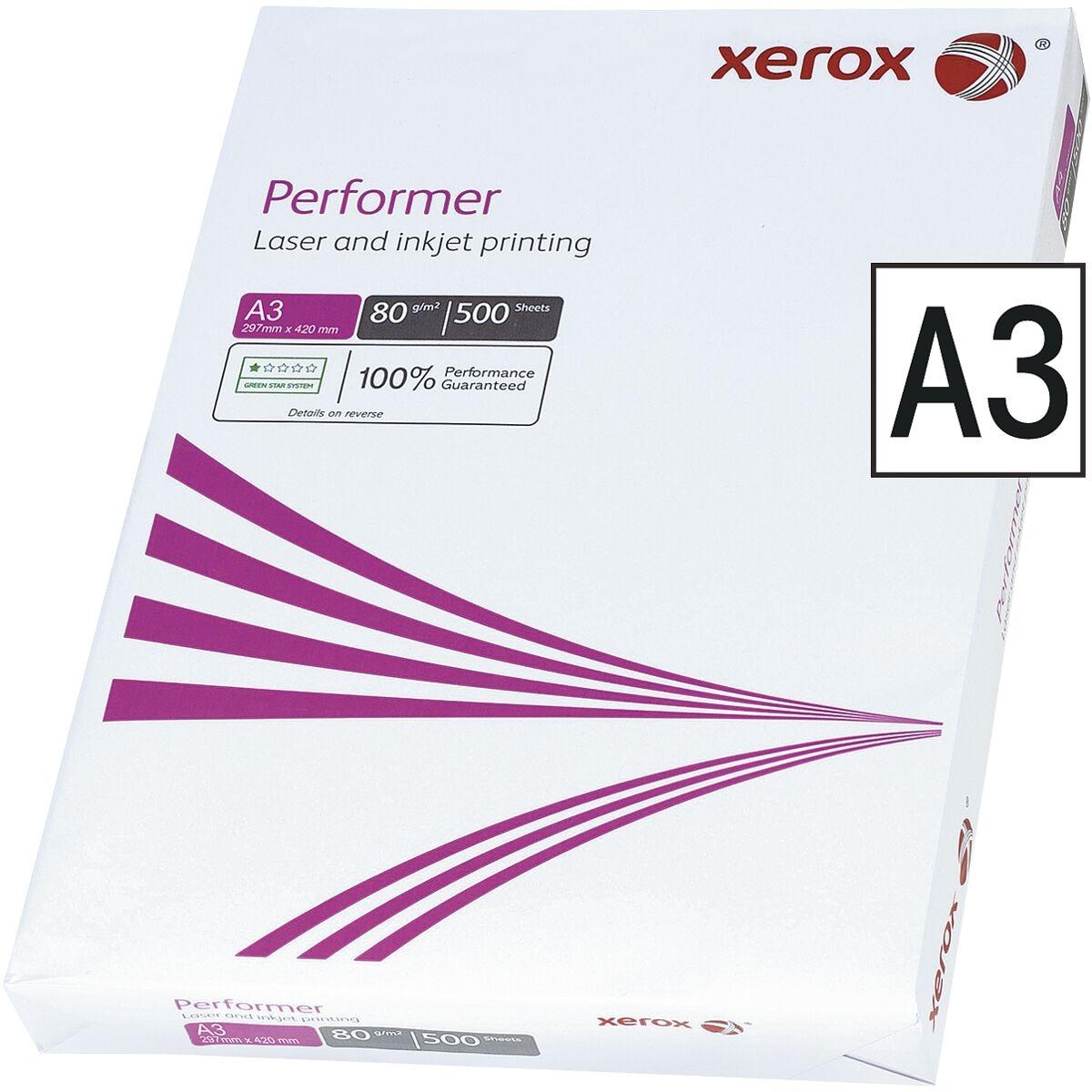 Kopierpapier A3 Xerox Performer - 500 Blatt gesamt, 80g/qm