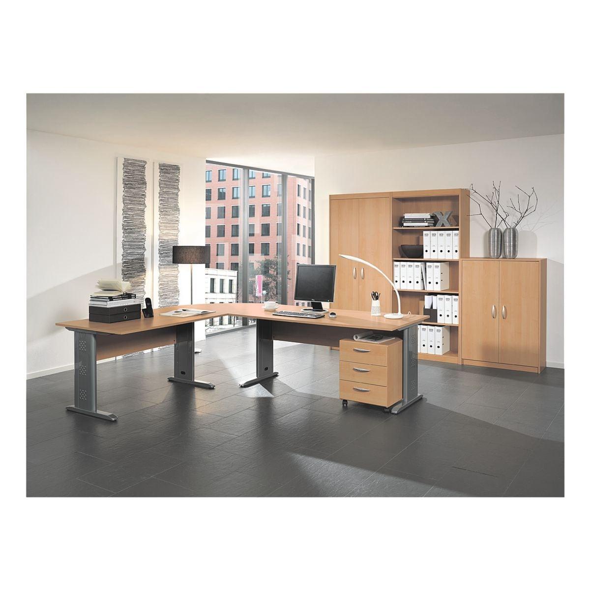 wellem bel m bel set adria 7 teilig schreibtisch mit c fu bei otto office g nstig kaufen. Black Bedroom Furniture Sets. Home Design Ideas