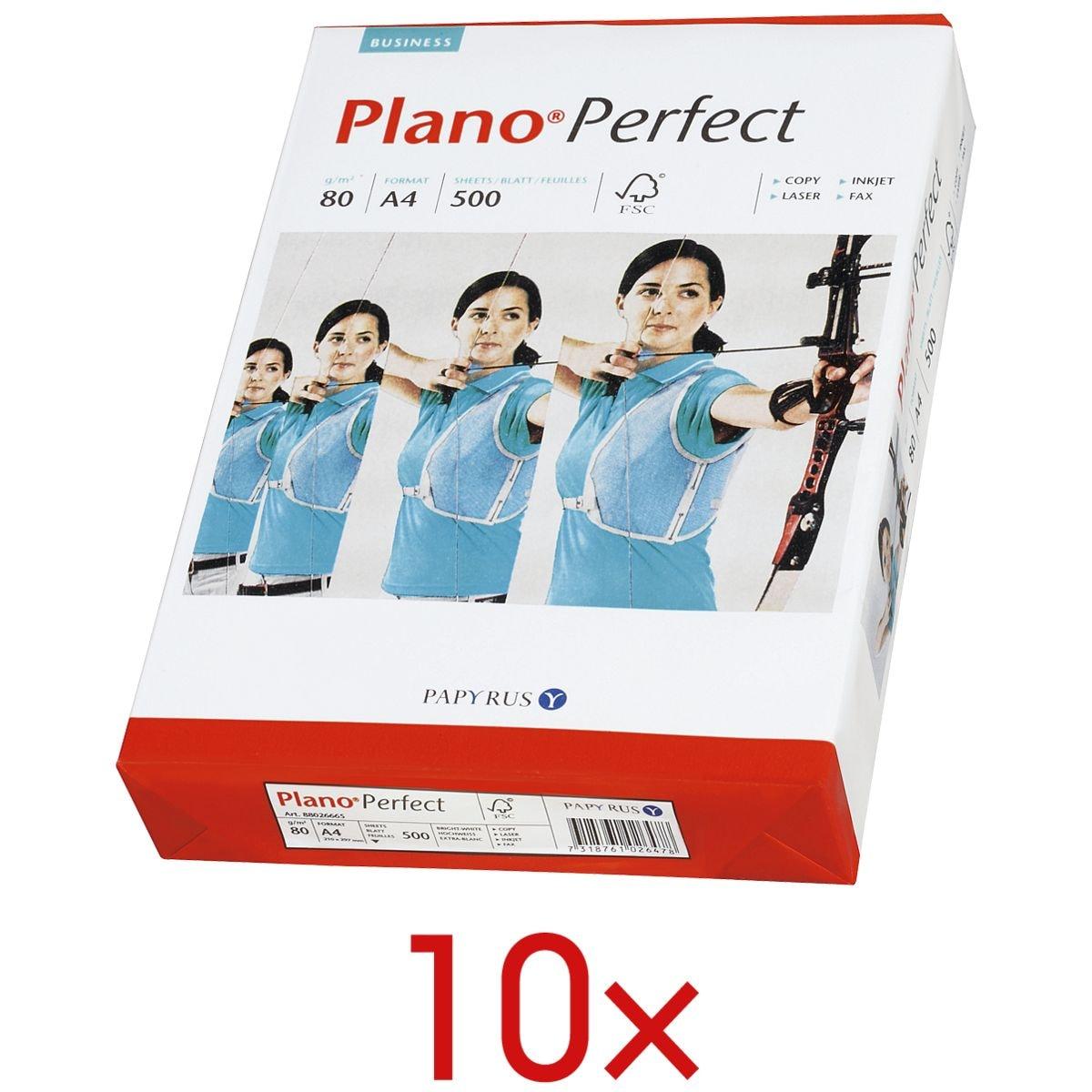 10x Multifunktionales Druckerpapier A4 Plano Perfect - 5000 Blatt gesamt