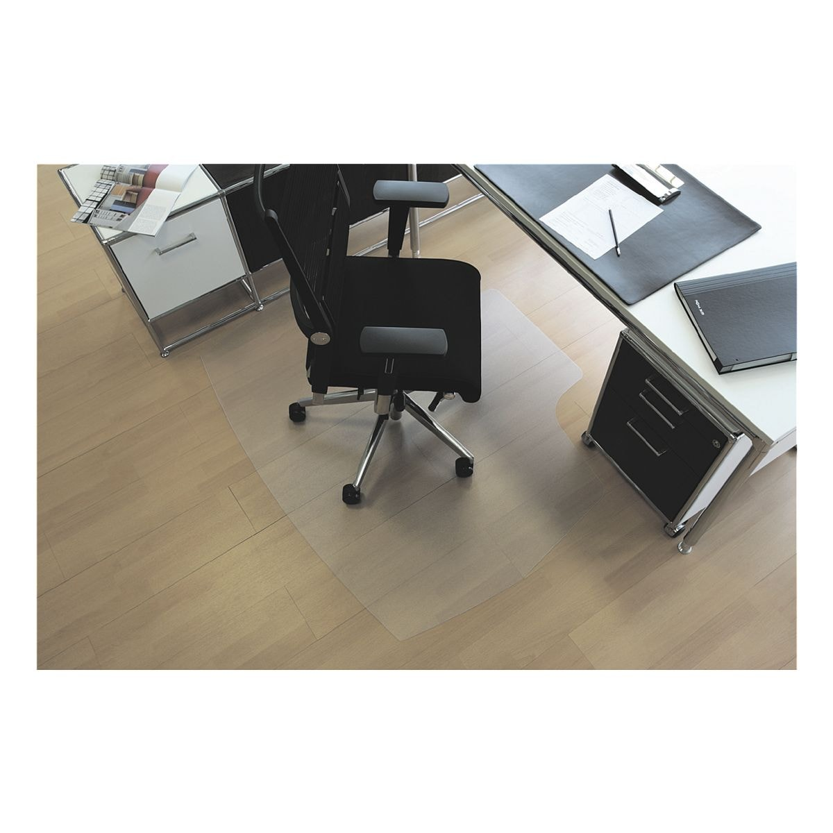bodenschutzmatte f r hartb den makrolon kreis 60 x 60 cm rs office products rollsafe bei. Black Bedroom Furniture Sets. Home Design Ideas
