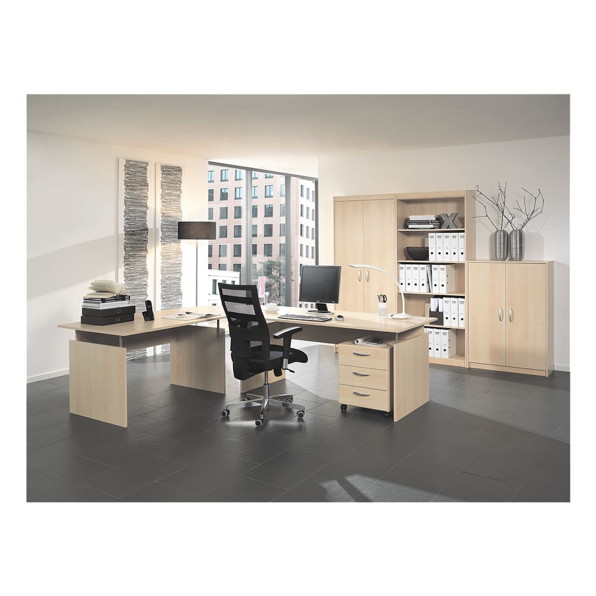 wellem bel m bel set adria 7 teilig schreibtisch mit wangenfu bei otto office g nstig kaufen. Black Bedroom Furniture Sets. Home Design Ideas