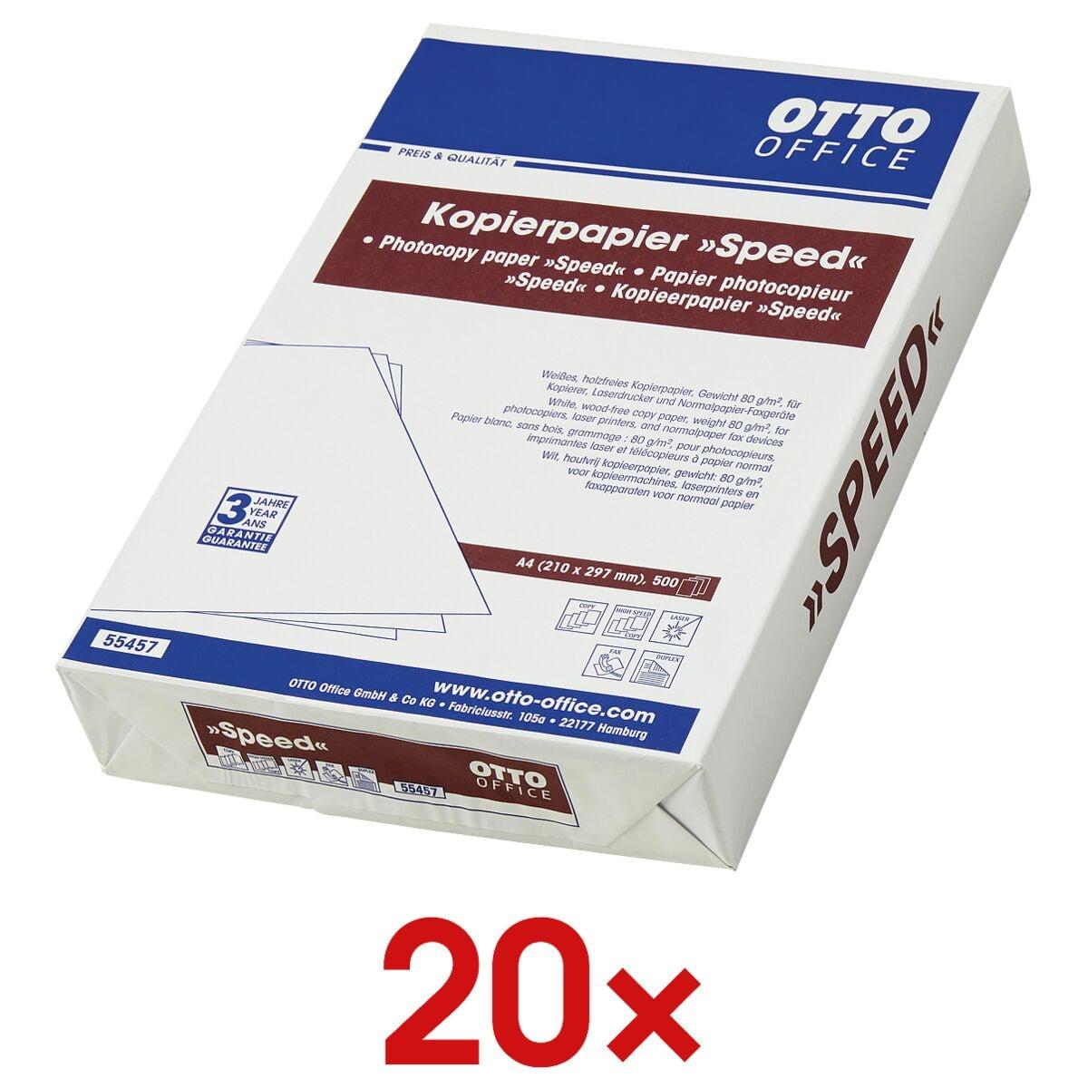 20x Kopierpapier A4 OTTO Office SPEED - 10000 Blatt gesamt, 80g/qm
