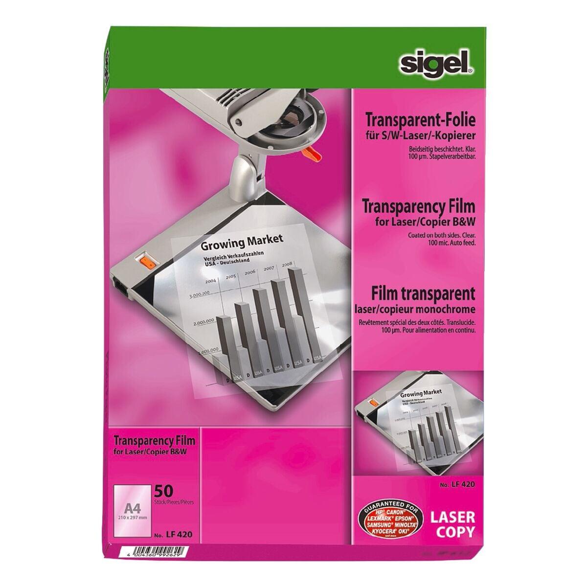 Sigel Overhead-S/W-Laserfolien