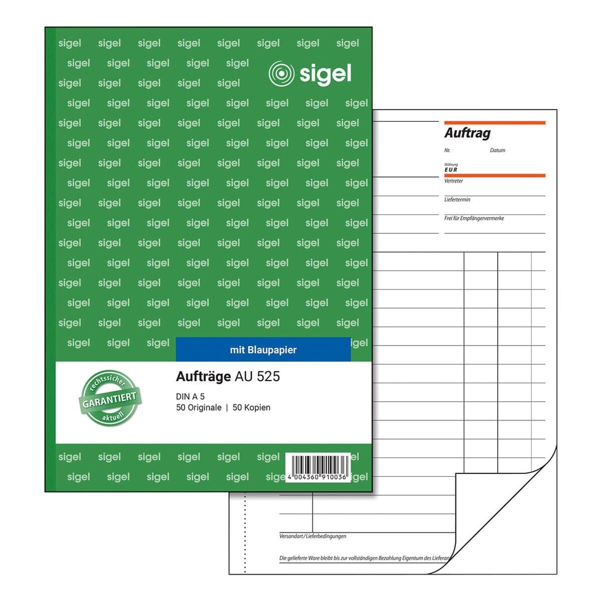 Sigel Formularbuch »Auftrag« AU525